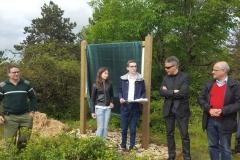 Lecture du discours d'inauguration de la signalétique pédagogique de la reforestation biodiverse de Beaune le samedi 18 juin 2016.