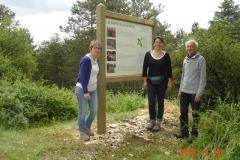 Face verso du panneau général de la présentation du projet de la reforestation pédagogique biodiverse de la forêt communale de Beaune inauguré le 18 juin 2016.