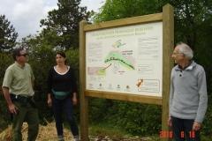 Face recto du panneau général de la présentation du projet de la reforestation pédagogique biodiverse de la forêt communale de Beaune inauguré le 18 juin 2016.