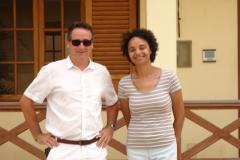 Jean-Noël CABASSY, Co-président de l'ONGE Forestiers du Monde® avec Madame Marina N'DEYE PEREIRA SILVA, responsable du projet de suivi des aires protégées au sein de la direction nationale capverdienne de l'environnement basée sur l'île de Boavista.