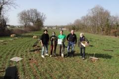 L'équipe des bénévoles de Forestiers du Monde® accompagné de Bruno SZOSTAK (Concept et Flamme)