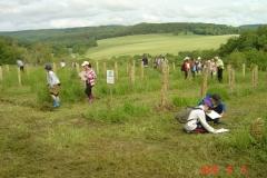 Animation pédagogique du 5 juin 2018. Site de la reforestation pédagogique biodiverse de Reulle-Vergy.