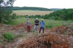 Réunion sur le site de la futire reforestation pédagogique biodverse de ReulleVergy le 26 juin 2017.
