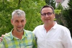 Eric GAY, délégué Forestiers du Monde® - Costa Rica et Jean-Noël CABASSY Co-président de l'ONGE Forestiers du Monde® le 10 août 2016 à Dijon.