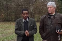 """Le Docteur Abdallahi DIARRA, Mauritanien, actuel Coordinateur du CODESEN et Paul BROSSAULT, Français, Chargé de mission """"Cigogne noire"""" pour l'ONGE Forestiers du Monde®"""