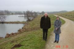 Découverte du site de l'Etang Fouché en compagnie de Mr Claude CHAVE, Maire d'Arnay le Duc et Madame Jocelyne RAMEAU, directrice de l'école pivée Jeanne d'Arc le 23 janvier 20110.
