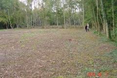 Le terrain de la future création forestière pédagogique biodiverse de Clénay en octobre 2013.