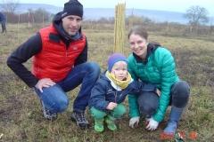 Accueil de familles dimanche matin 19 novembre 2017. Création forestière pédagogique biodiverse de Morey Saint Denis