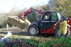 Livraison de la paille par l'agriculture Mr Fabien NAUDIN de Reulle Vergy. 14 novembre 2017.
