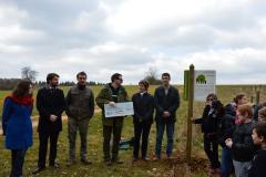Inauguration de la signalétique pédagogique. Création forestière pédagogique biodiverse de Saint Germain le Rocheux. Lundi 21 mars 2016.