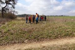 Les écoliers d'Aignay le duc engagent la mise n terre des 60 plants avec leurs professeurs et les parents d'élèves. Lundi 21 mars 2016. Saint Germain le Rocheux.