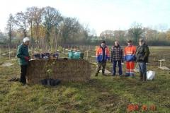 L'équipe des employés communaux de Saint Julien accompagnés de Pascal PERREUR de France Forêt Agriculture et Bernard LECLERCQ de l'ONGE Forestiers du Monde®