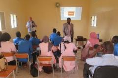 Sensibilisation d'étudiants mauritaniens. protection de la cigogne noire. Hivernange 2017-2018