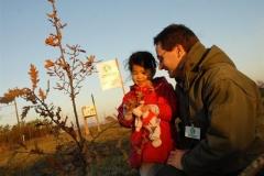 Création forestière pédagogique biodiverse d'Ouges. Année scolaire 2004-2005