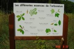 Inauguration de la signalétique pédagogique de la reforestation biodiverse de Premeaux-Prissey le 20 juin 2009. Signalétique conçue réalisée par l'atelier bois de l'Office national des forêts.