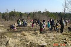 Reforestation pédagogique biodiverse de Savigny-les-Beaune. mardi 20 mars 2018.
