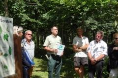 Jean-Noël CABASSY Co-président de Forestiers duMonde® présente les objectifs et les valeurs de l'ONGE.Vendredi 29 uin 2018.
